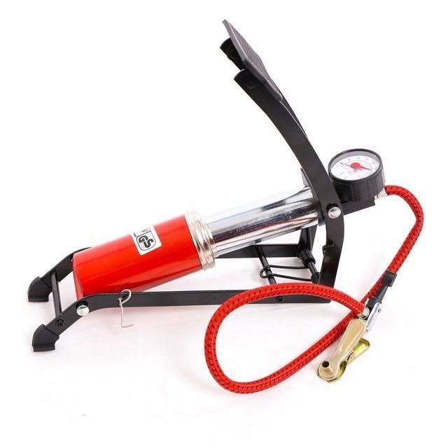 Combo- Bơm đạp chân 1 Piston - xe máy tặng kèm bạt phủ xe máy 5