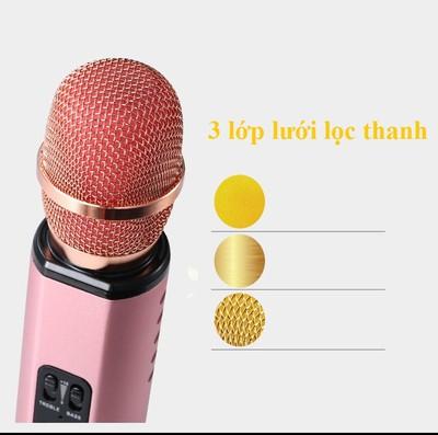 Micro kèm loa Bluetooth Karaoke nhập khẩu PKCB K6 cắm thẻ nhớ PF14 13