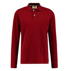 Áo thun nam cổ bẻ dài tay chuẩn phong cách Pigofashion PG09 - đỏ đô