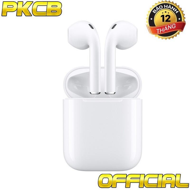 Tai nghe Bluetooth 2 tai cho điện thoại, máy tính bảng Trắng PKCB I8 10