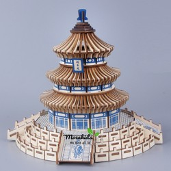 Đồ chơi lắp ráp gỗ 3D Mô hình Tháp Thiên Đường Laser