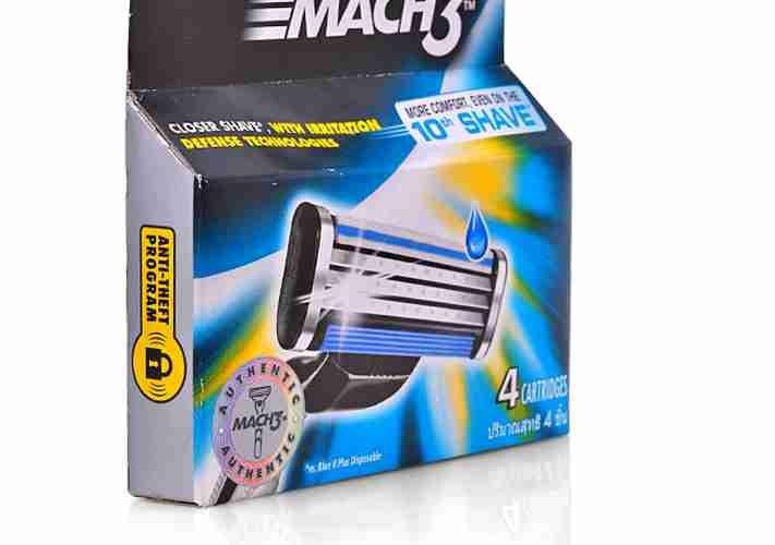 Hộp 4 lưỡi dao cạo râu Mach3 Basic Gillette 2