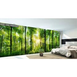 Tranh dán tường 3D khu rừng xanh 3 TP21
