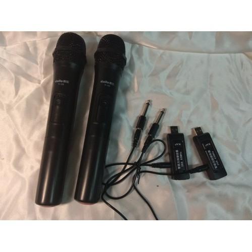 Mic karaoke không dây gắn loa kéo P8x, loa bluetooth, amply
