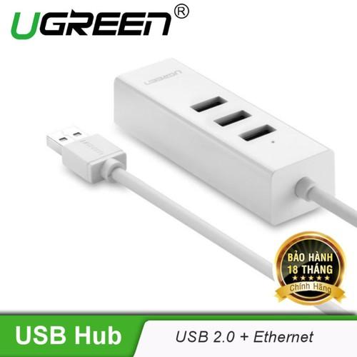 Bộ chia 3 cổng usb 2.0 kèm cổng mạng ethernet 10_100mbps dài 20cm