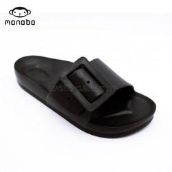 Dép Thái Lan unisex MONOBO quai khóa nhựa đúc - MONIGA 8.2XL - ĐEN