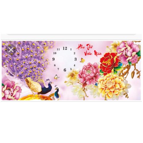 tranh đính đá đồng hồ vợ chồng 106x45cm - 4465717 , 10761806 , 15_10761806 , 220000 , tranh-dinh-da-dong-ho-vo-chong-106x45cm-15_10761806 , sendo.vn , tranh đính đá đồng hồ vợ chồng 106x45cm