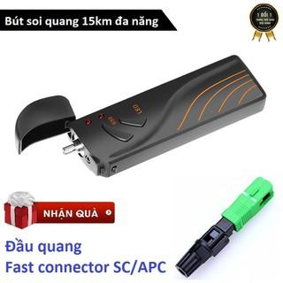 Bút soi quang SGV 15km cao cấp dùng pin sạc - Tích hợp đèn pin LED - Bút SGV 15Km + Đầu APC thumbnail