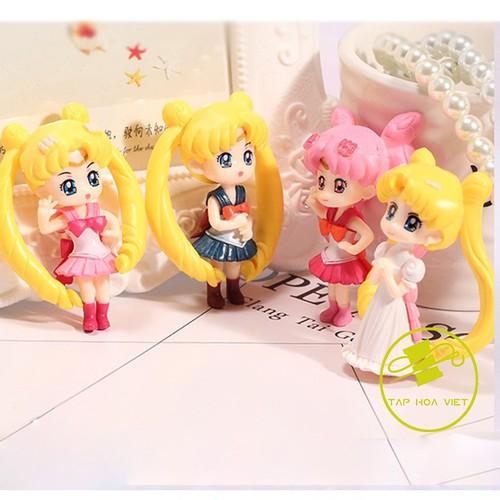 Bộ 4 mô hình thủy thủ mặt trăng Sailor Moon + Tặng kèm đế tròn - 10696960 , 10769071 , 15_10769071 , 26000 , Bo-4-mo-hinh-thuy-thu-mat-trang-Sailor-Moon-Tang-kem-de-tron-15_10769071 , sendo.vn , Bộ 4 mô hình thủy thủ mặt trăng Sailor Moon + Tặng kèm đế tròn