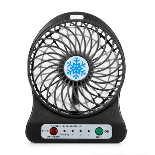Quạt cầm tay pin sạc 3 cấp độ mini hoa tuyết Portable fans PF66