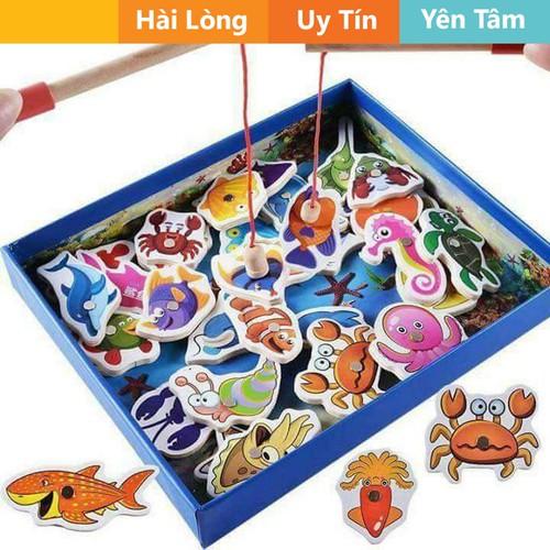 [ hoàn 30k nhập : cb_30k ] đồ chơi câu cá cho bé bộ 32 con cá