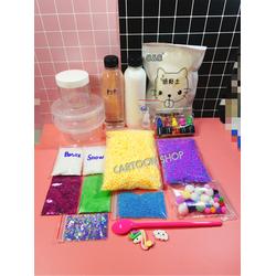 Bộ kit PVA nguyên liệu phụ kiện làm slime
