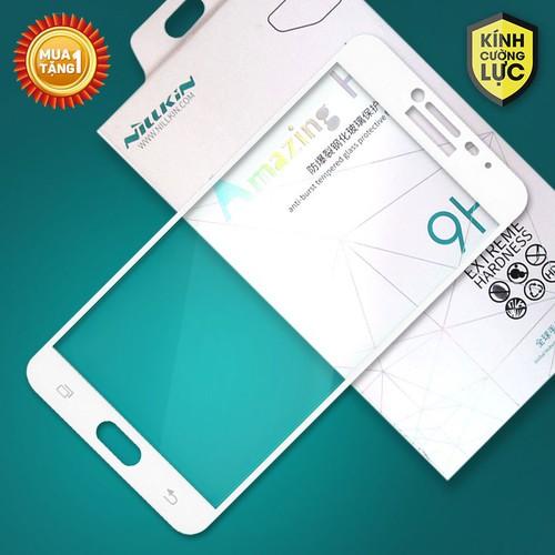 Miếng kính cường lực Samsung Galaxy C7 Full Nillkin trắng