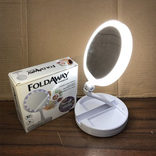 Gương trang điểm -Gương trang điểm 2 mặt có đèn led-gương-gương trang điểm đa năng-gương đèn led - Gương trang điểm RE0095 thumbnail