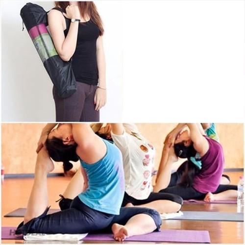 Thảm yoga loại dày 6mm có túi đeo vai xếp gọn