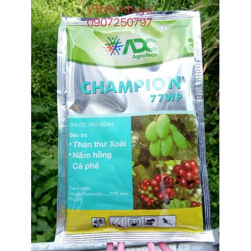 Thuốc trừ bệnh Champ ADC 77WP Đặc trị nấm hồng và thán thư 100gr