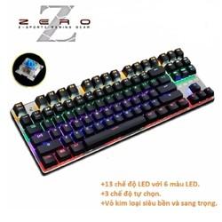 Bàn phím cơ zero Metoo 87keys bản quốc tế led đổi màu - DC2289