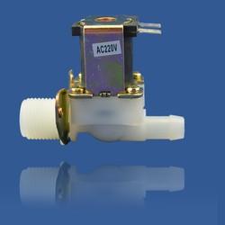 Van khóa nước bằng điện từ 220V nối ống 21-10mm