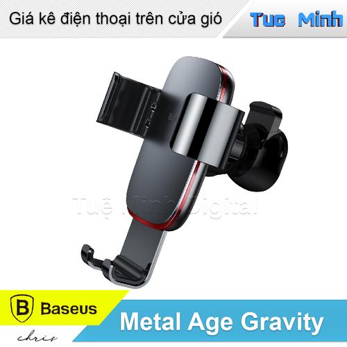Giá kê điện thoại kẹp cửa gió - Baseus Metal Age Gravity Car Mount