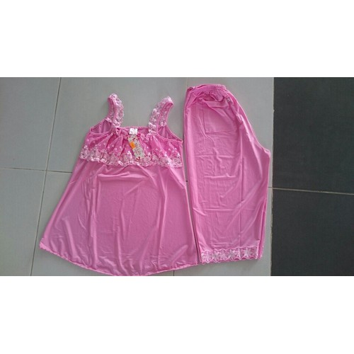 Đồ bộ thun lạnh lững áo dây bản đủ size từ 45-70kg