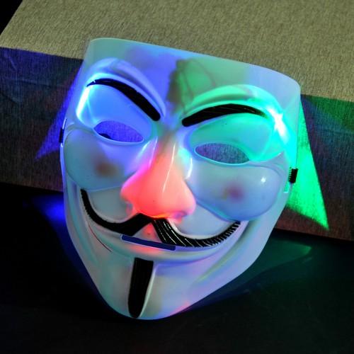mặt lạ hacker đèn led . mặt lạ đèn led 7 màu