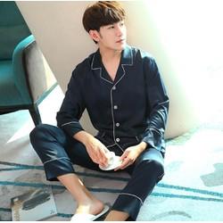 NG1788N- Bộ pyjama dài tay nam chất lụa - giá 590k