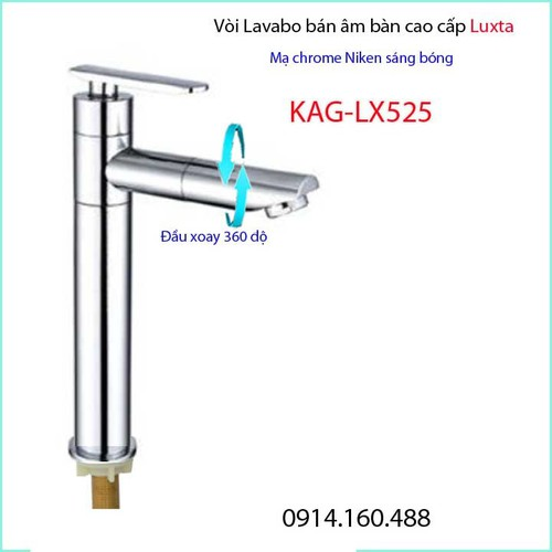 Vòi lavabo lạnh ống trúc, vòi chậu rửa mặt  Luxta KAG-LX525