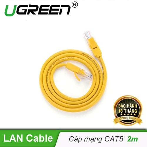 Cáp mạng đúc sẵn 2 đầu Cat 5 dài 2M Ugreen NW103