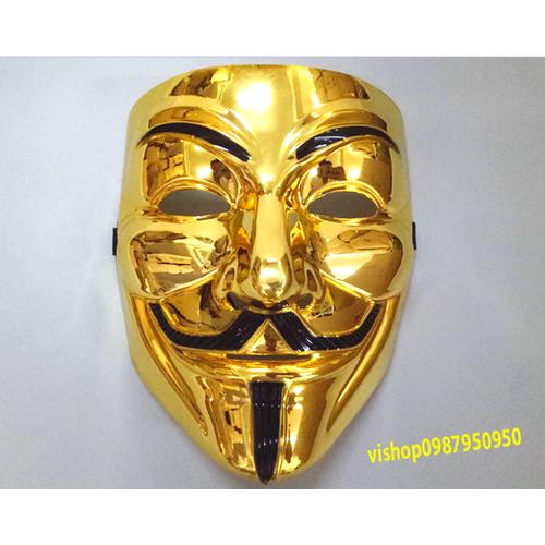 mặt lạ hacker vàng , Mặt nạ Hacker Anymous màu Vàng