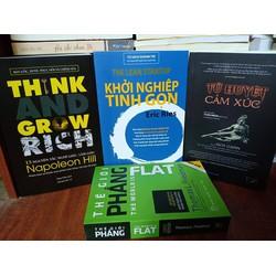 Combo 13 nguyên tắc làm giàu, Khởi nghiệp, Tử huyệt, Thế giới phẳng