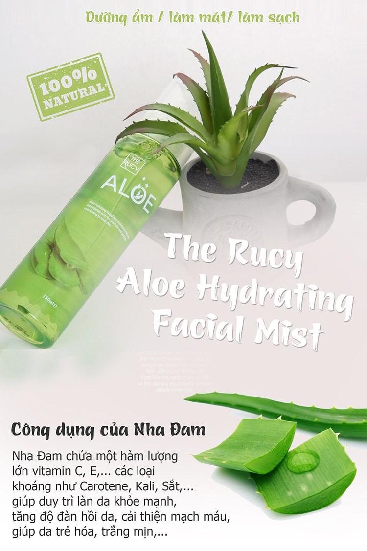 Xịt Khoáng The Rucy Aloe Hydrating Facial Mist LK Shop - xịt khoáng lô hội 1