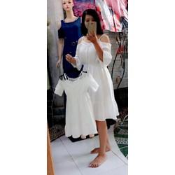 đầm đôi mẹ bé Vải xô cotton cao cấp