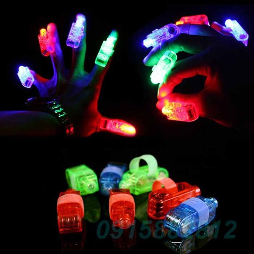 Combo 4 ngón tay đèn led  ma thuật.ngón tay phát sáng giá rẻ