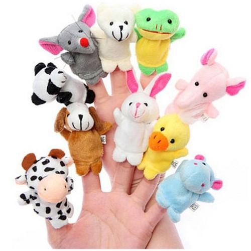 bộ đồ chơi thú bông 10 ngón  cho bé
