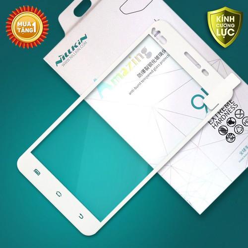 Miếng kính cường lực Vivo X6 Full Nillkin trắng