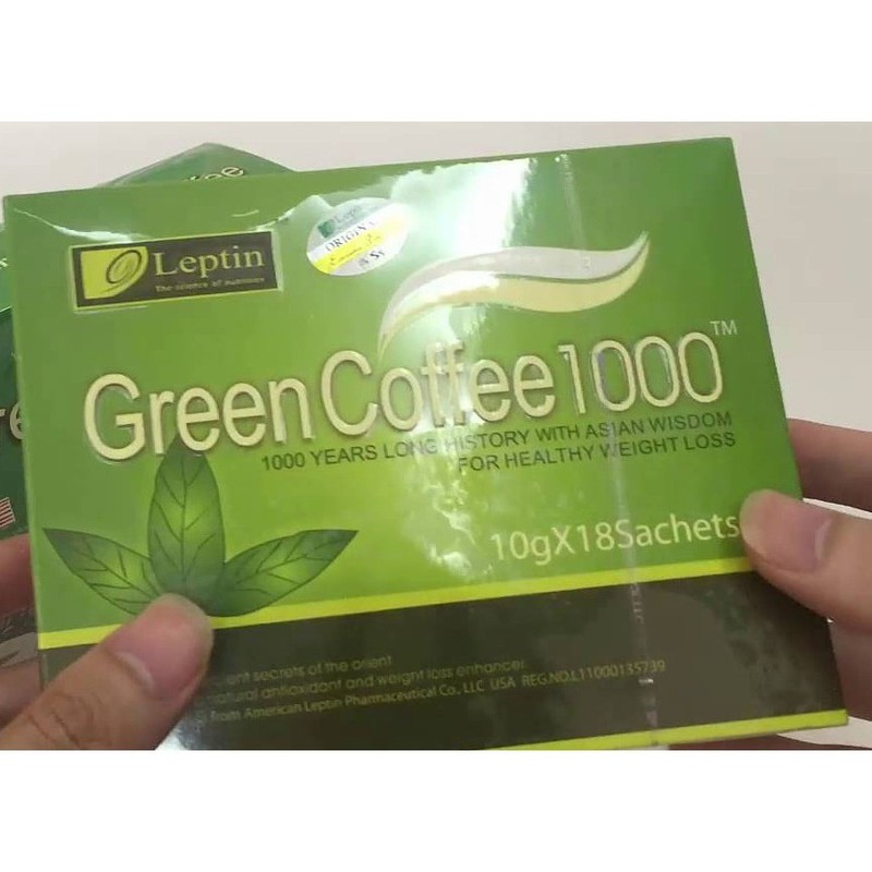 Cafe giảm cân tan mỡ Green Coffee Leptin 1000 của MỸ 3