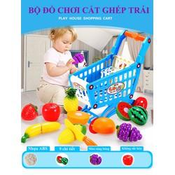 Bộ đồ chơi cắt ghép trái cây sinh động 9 chi tiết cho bé