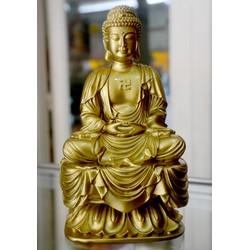 Tượng Đức Phật A Di Đà ngồi tòa sơn đồng cao 18cm
