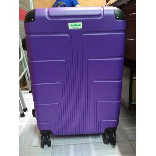 vali nhựa xoay, 4 bánh xe, size trung loại ký gởi, vali 24 inc