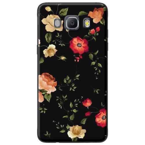 Ốp lưng nhựa dẻo Samsung J5 2016 Hoa đỏ cam