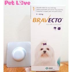 Thuốc Bravecto trị ghẻ, viêm da, ve rận cho chó từ 2 - 4,5kg
