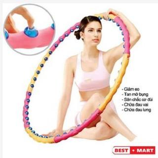 [Free ship] Vòng lắc eo Massage Hoop bằng nhựa loại tốt - Vòng lắc eo - VLEMH thumbnail