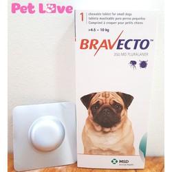 Thuốc Bravecto trị ghẻ, viêm da, ve rận cho chó từ 4,5 - 10kg