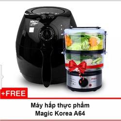 NỒI CHIÊN KHÔNG DẦU MAGIC KOREA A70 NEW TẶNG KÈM...