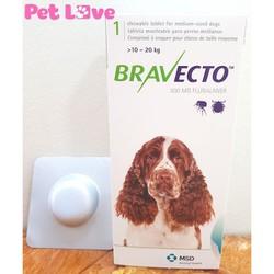 Thuốc Bravecto trị ghẻ, viêm da, ve rận cho chó từ 10 - 20kg