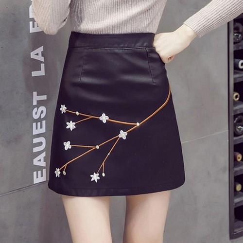 Chân váy da đẹp - Chân váy Hàn Quốc