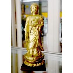 Tượng Đức Phật A Di Đà đứng sơn đồng cao 21cm