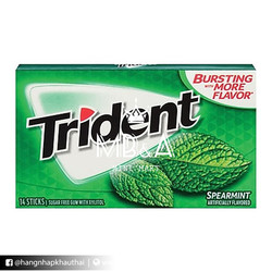 Kẹo cao su Trident vị Bạc Hà - Mỹ