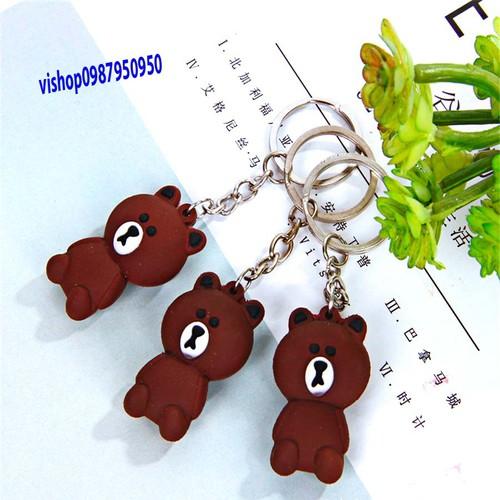Móc khóa gấu, combo 2 móc khóa gầu brown dễ thương