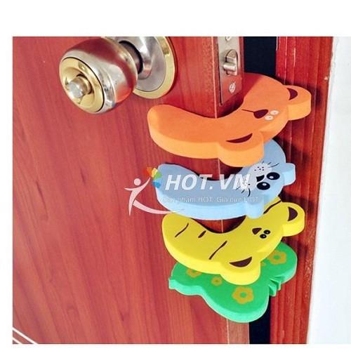 Combo 10 miếng xốp chặn cửa chống kẹp tay cho bé